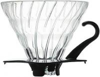 фотография Hario V60 02 Glass Dripper Black VDGN-02B