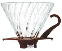 фотография Hario V60 02 Glass Dripper Brown