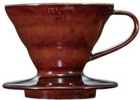 фотография Hario Dripper V60 01 Ceramic Chocolate Brown VDC-01CBR