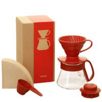 фотография Набор Hario V60 Dripper & Pot Red VDS-3012R
